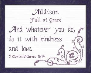 name blessings - addison 2