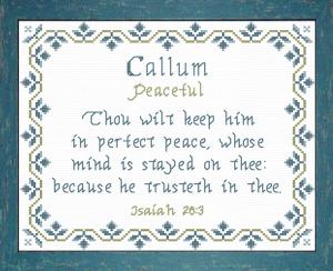 name blessings - callum