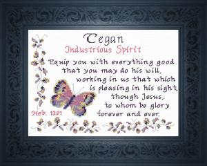 name blessings - tegan