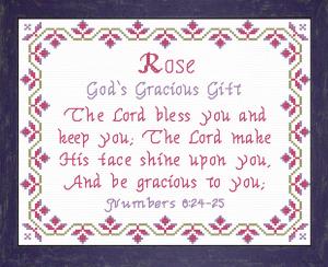 name blessings - rose