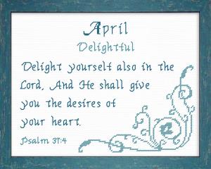 name blessings - april 2