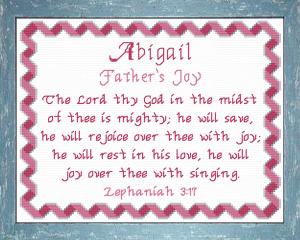 name blessings - abigail 9
