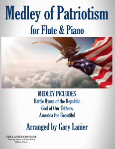 medley of patriotism, bb trumpet and piano, video for projection & streaming