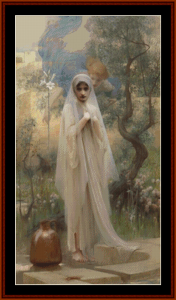 the annunciation – arthur hack cross stitch pattern by cross stitch collectibles
