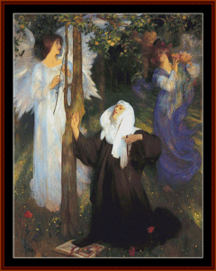 the cloisters – arthur hacker cross stitch pattern by cross stitch collectibles