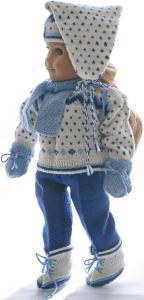 dollknittingpatterns 0023d kirsten - pull, bonnet, pantalon de ski, chaussettes, chaussures, écharpes, moufles et sac à do-(francais)