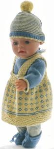dollknittingpatterns  modell 0219d eliana - genser, skjørt, truse, sko og lue-(norsk)