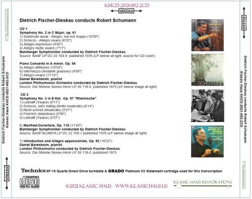 First Additional product image for - Dietrich Fischer-Dieskau conducts Robert Schumann