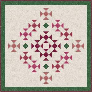 rose bouquet mini quilt
