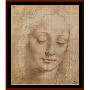 female head - davinci cross stitch pattern by cross stitch collectibles