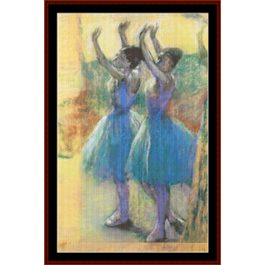 Two Blue Dancers - Degas cross stitch pattern by Cross Stitch Collectibles | Crafting | Cross-Stitch | Other