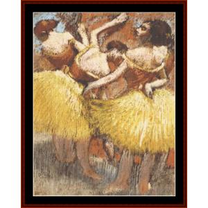 Three Dancers - Degas cross stitch pattern by Cross Stitch Collectibles | Crafting | Cross-Stitch | Other