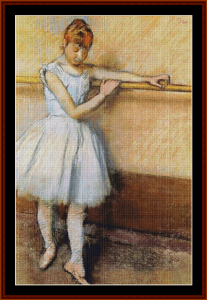 At the Barre - Degas cross stitch pattern by Cross Stitch Collectibles   Crafting   Cross-Stitch   Other