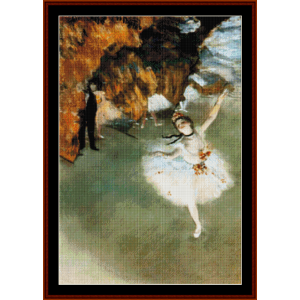 Dancer on Stage - Degas cross stitch pattern by Cross Stitch Collectibles | Crafting | Cross-Stitch | Other