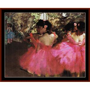 Dancers in Pink - Degas cross stitch pattern by Cross Stitch Collectibles | Crafting | Cross-Stitch | Other