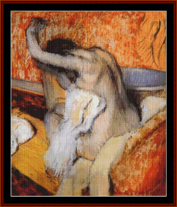 After the Bath II   Degas cross stitch pattern by Cross Stitch Collectibles. | Crafting | Cross-Stitch | Other