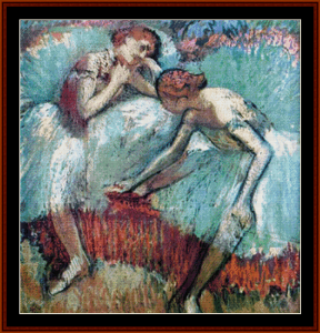 Two Dancers at Rest - Degas cross stitch pattern by Cross Stitch Collectibles | Crafting | Cross-Stitch | Other
