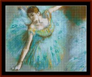 Dancer in Green, 1883 - Degas cross stitch pattern by Cross Stitch Collectibles | Crafting | Cross-Stitch | Other