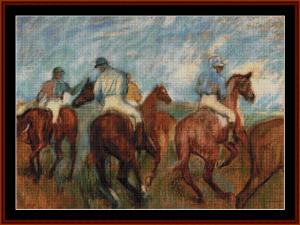 Jockeys  - Degas cross stitch pattern by Cross Stitch Collectibles | Crafting | Cross-Stitch | Other