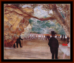 The Curtain - Degas cross stitch pattern by Cross Stitch Collectibles | Crafting | Cross-Stitch | Other