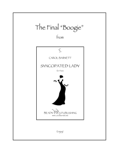 """the final """"boogie"""" from syncopated lady"""