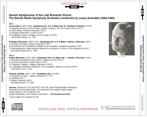 First Additional product image for - Danish Symphonies of the Late Romantic Period (mono)
