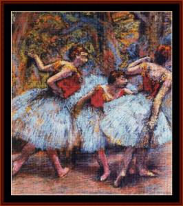 Three Dancers, Blue Skirts cross stitch pattern   Crafting   Cross-Stitch   Other