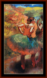Two Dancers in Green Skirts - Degas cross stitch pattern by Cross Stitch Collectibles | Crafting | Cross-Stitch | Other
