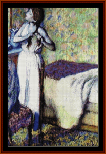 Young Girl Braiding Hair - Degas cross stitch pattern by Cross Stitch Collectibles   Crafting   Cross-Stitch   Other