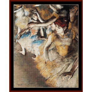 Dancers on Stage, 1884 - Degas cross stitch pattern by Cross Stitch Collectibles | Crafting | Cross-Stitch | Other