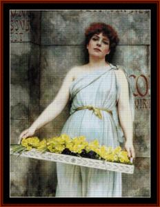 Flower Seller, 1896 - Godward cross stitch pattern by Cross Stitch Collectibles | Crafting | Cross-Stitch | Other