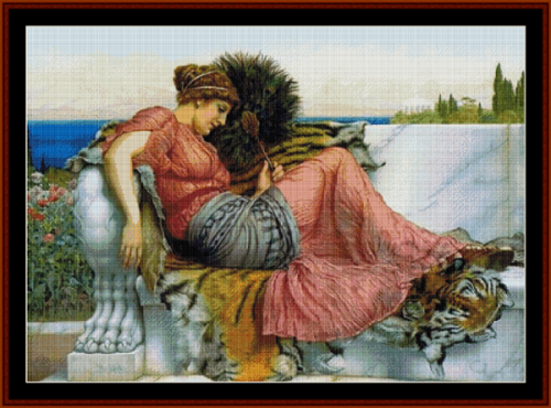 First Additional product image for - Amaryllis, 1903 - Godward cross stitch pattern by Cross Stitch Collectibles