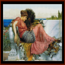 Amaryllis, 1903 - Godward cross stitch pattern by Cross Stitch Collectibles | Crafting | Cross-Stitch | Other