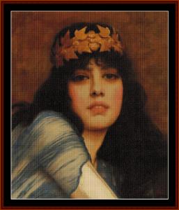 The Priestess, 1896 - Godward cross stitch pattern by Cross Stitch Collectibles   Crafting   Cross-Stitch   Other