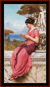 The Love Letter, 1913 - Godward cross stitch pattern by Cross Stitch Collectibles | Crafting | Cross-Stitch | Other