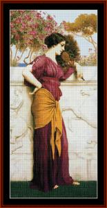 The Peacock Fan, 1912 - Godward cross stitch pattern by Cross Stitch Collectibles | Crafting | Cross-Stitch | Other