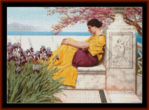 Under the Blossoms, 1917 - Godward cross stitch pattern by Cross Stitch Collectibles   Crafting   Cross-Stitch   Other
