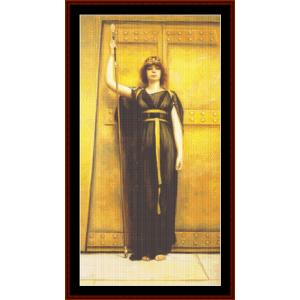 The Priestess, 1895 - Godward cross stitch pattern by Cross Stitch Collectibles | Crafting | Cross-Stitch | Other