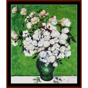 Vase of Roses - van Gogh cross stitch pattern by Cross Stitch Collectibles | Crafting | Cross-Stitch | Other