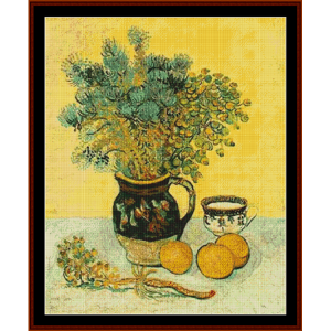 Wildflowers in a Majolica Jug - Van Gogh cross stitch pattern by Cross Stitch Collectibles | Crafting | Cross-Stitch | Other