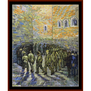 Prisoners Exercising - Van Gogh cross stitch pattern by Cross Stitch Collectibles | Crafting | Cross-Stitch | Other