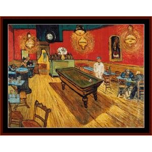 The Night Cafe -Van Gogh cross stitch pattern by Cross Stitch Collectibles | Crafting | Cross-Stitch | Other
