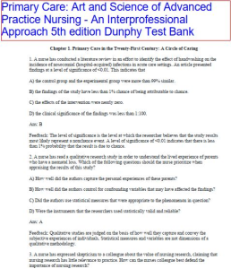 test bank. primary care art and science of advanced practice nursing an interprofessional approach 5thed. l dunphy. chapter 1-82 530 pages.
