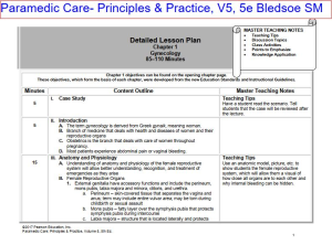 paramedic care- principles & practice, v5, 5e bledsoe lesson plan, test bank, quiz, chapter review, and answer key. chapter 1-16. 468 pages.
