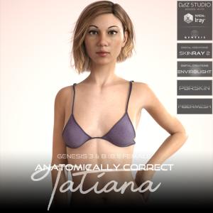 anatomically correct: tatiana for genesis 3 and genesis 8 female (8.1)