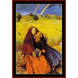blind girl – j.e. millais cross stitch pattern by cross stitch collectibles