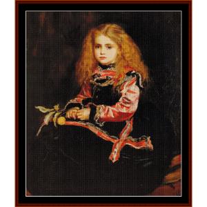 souvenir of velazquez – j.e. millais cross stitch pattern by cross stitch collectibles