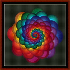 fractal 53 (small) cross stitch pattern by cross stitch collectibles