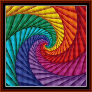 fractal 54 (small) cross stitch pattern by cross stitch collectibles