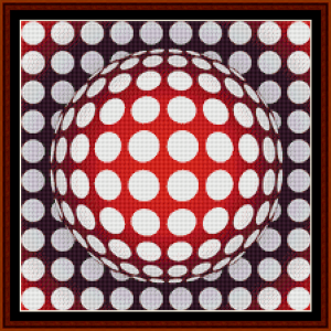 fractal 237 (small) cross stitch pattern by cross stitch collectibles